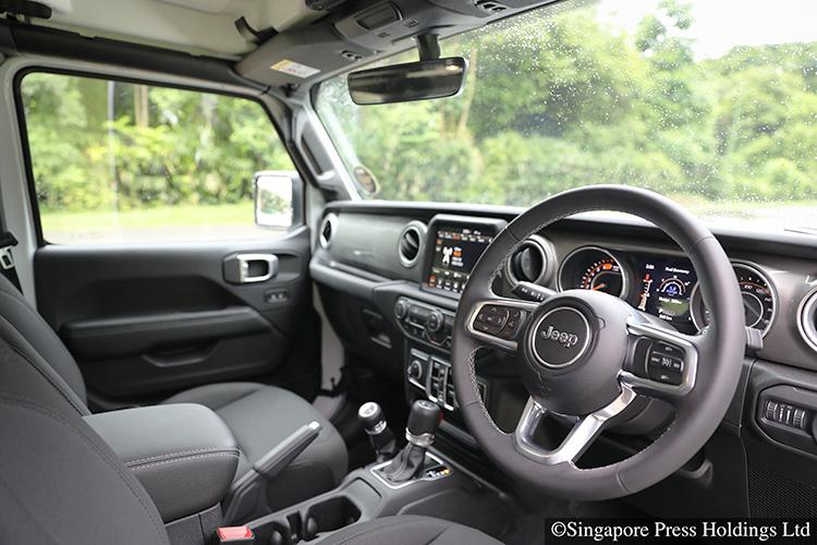 jeep wrangler sahara interior