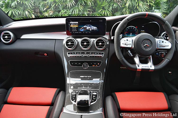 mercedes-amg c63 s interior