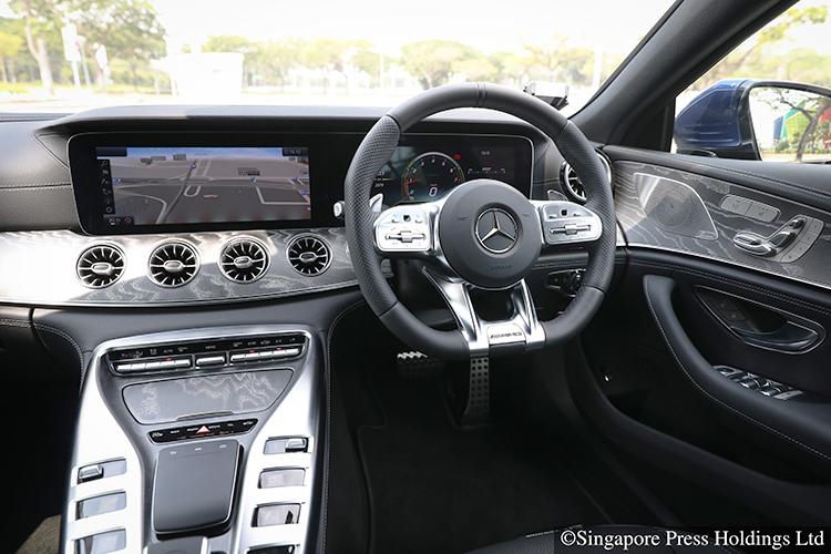 mercedes-amg gt53 4-door interior