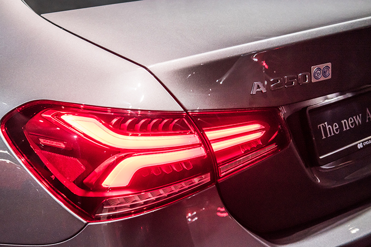 mercedes-benz a-class saloon a250 tail-light