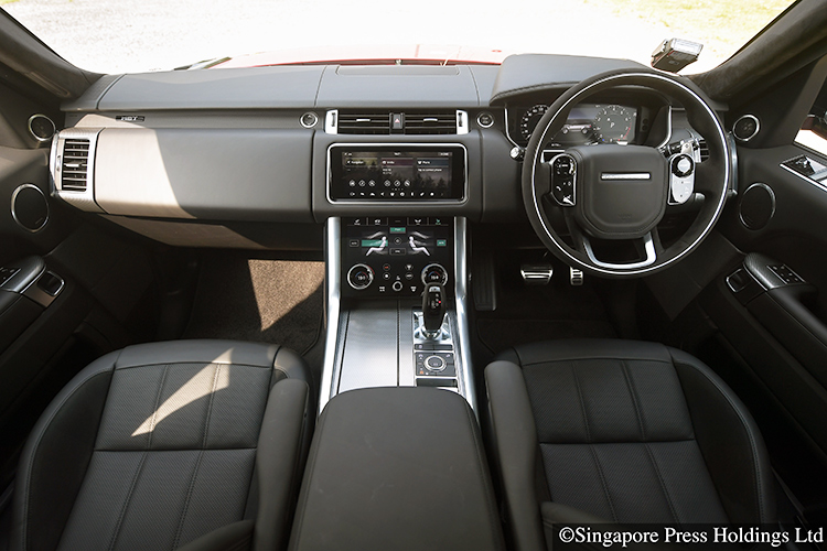 range rover sport hst interior