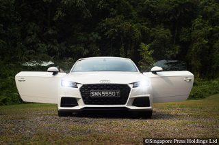 audi tt coupe front doors open