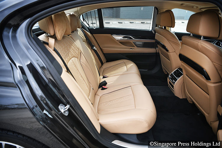 bmw 7 series 740li backseat