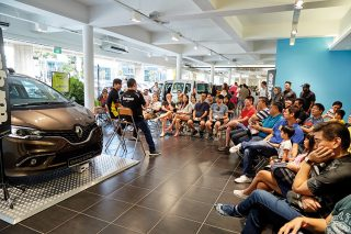 breakfast with torque and renault presentation