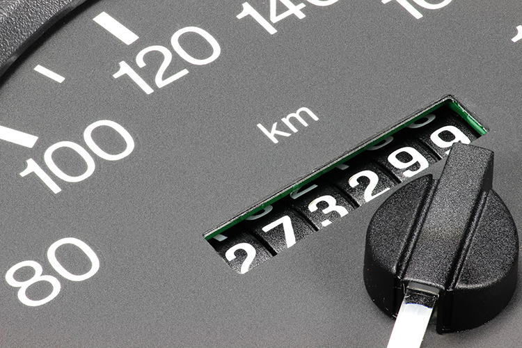 buying a used car odometer