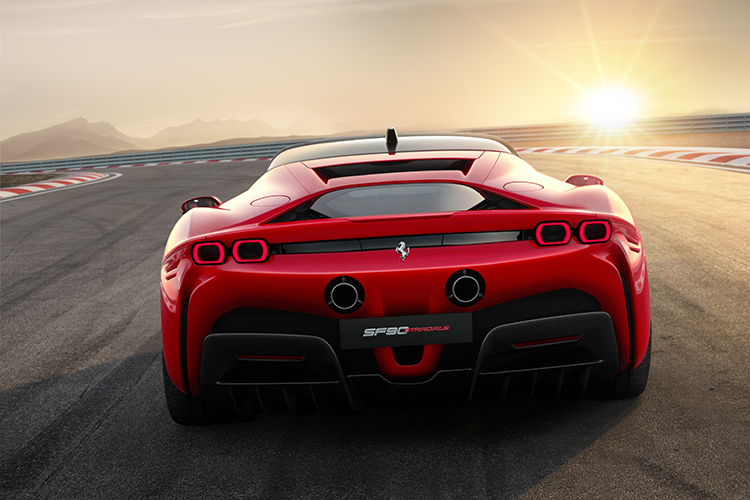 ferrari sf90 stradale rear