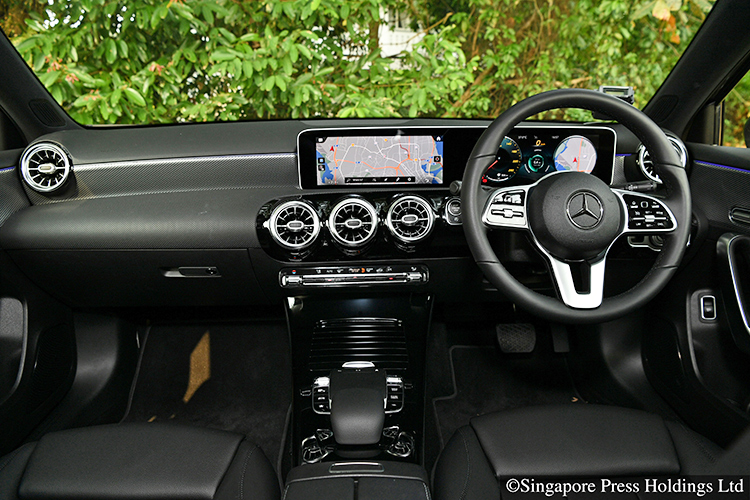 mercedes-benz a-class saloon interior