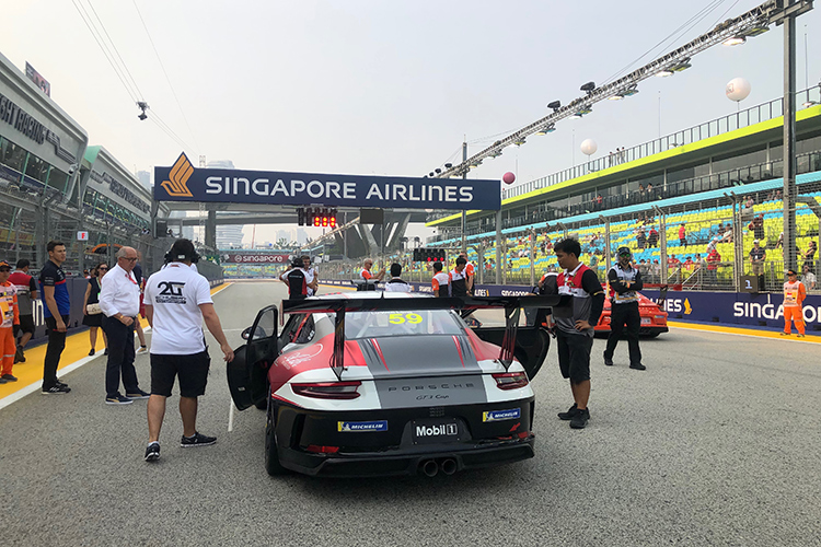 porsche carrera cup asia starting grid 2