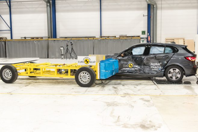 Euro NCAP BMW 1 Series side impact testing