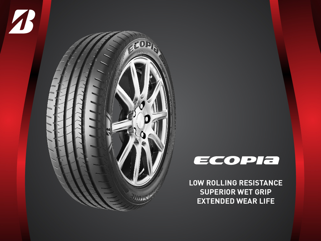 Bridgestone ECOPIA™ - Low Rolling Resistance Superior Wet Grip Extended Wear Life