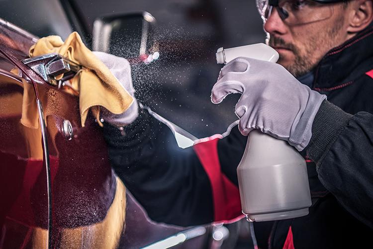 car grooming detailing spray