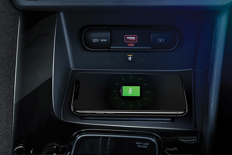 kia niro hybrid wireless charger
