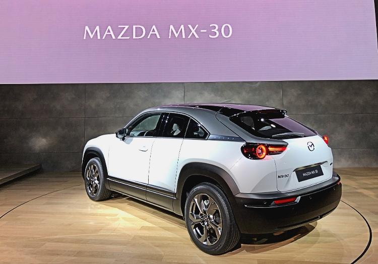 mazda mx-30 rear three quarters