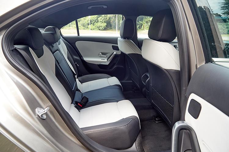 mercedes-benz a-class saloon backseat