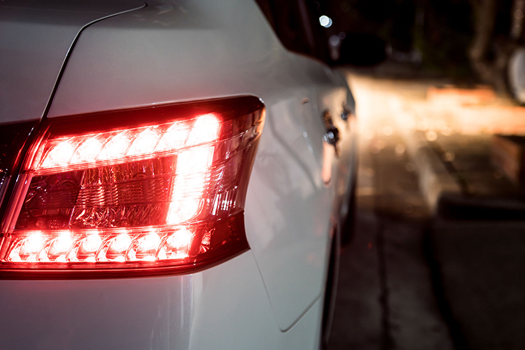 car maintenance one brake light brighter than the other