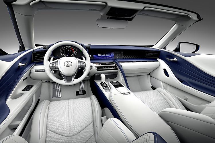 lexus lc500 convertible cockpit
