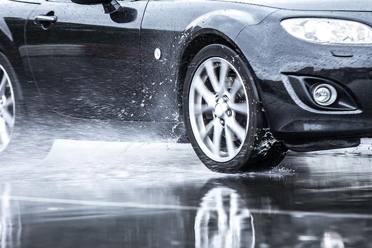 new driver wet roads