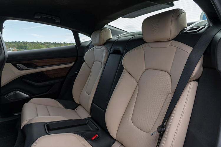 porsche taycan turbo s backseat
