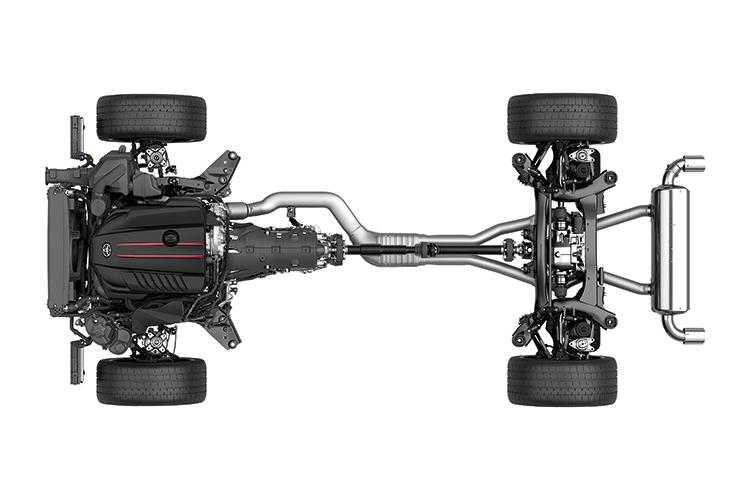 toyota supra drivetrain layout