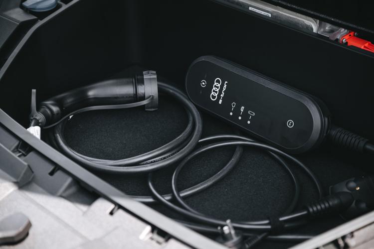 audi e-tron road trip charging cable