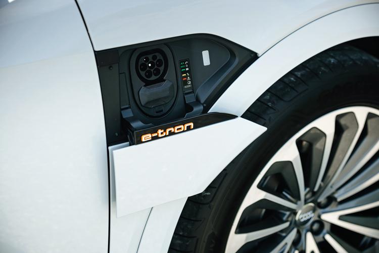 audi e-tron road trip charging port