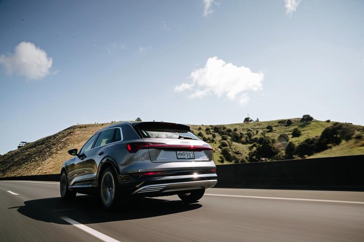 audi e-tron road trip rear driving