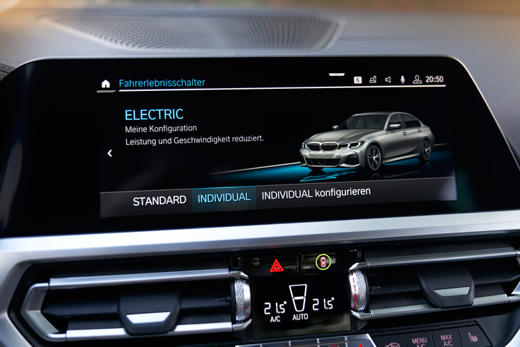bmw 330e electric drive mode