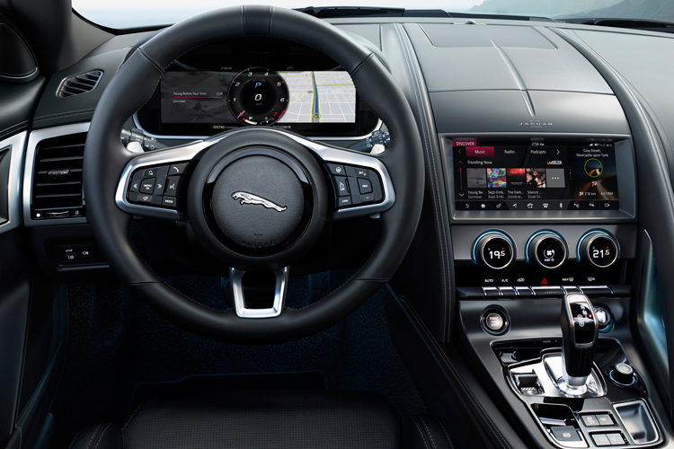 jaguar f-type cockpit day