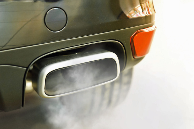 black smoke exhaust