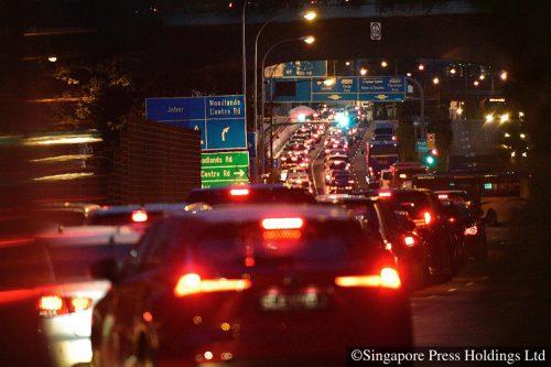 traffic jam causeway singapore