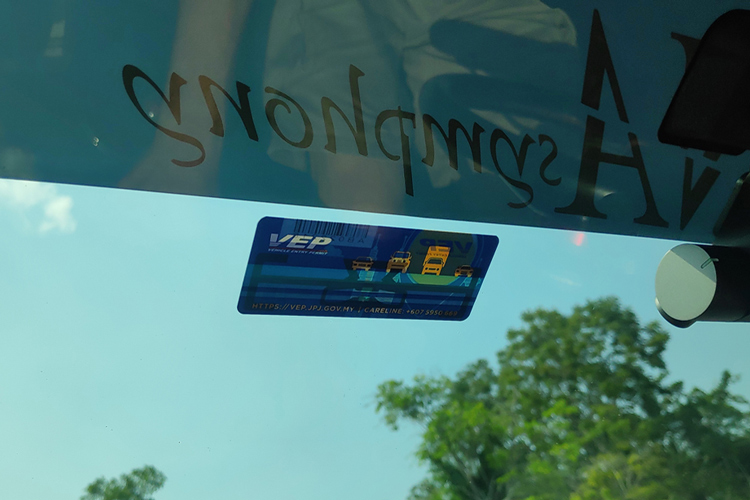 vep tag inside car
