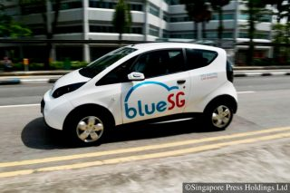 electric car singapore bluesg