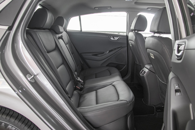 hyundai ioniq hybrid backseat