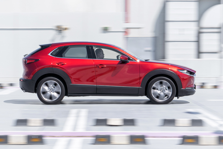 mazda cx-30 driving action