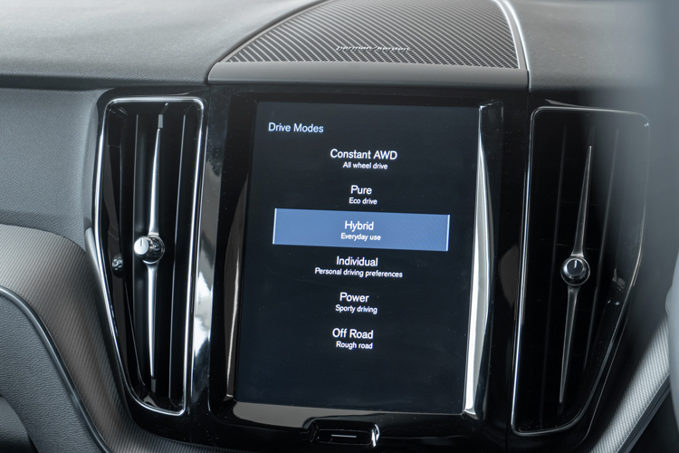 volvo xc60 recharge driving modes
