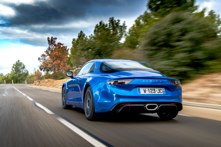 alpine a110 rear action