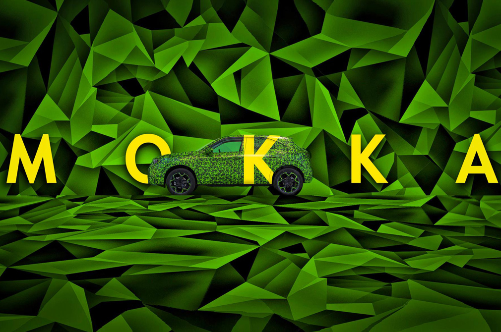 Vauxhall Mokka camouflaged