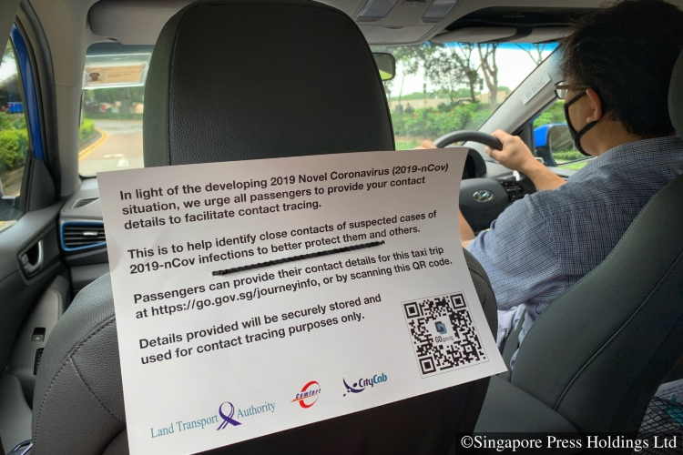 SafeEntry for cabs