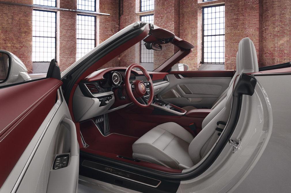 Porsche two-tone leather interior