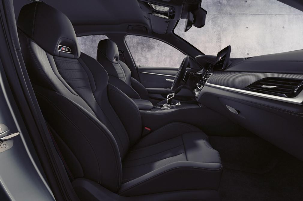 BMW M5 cabin
