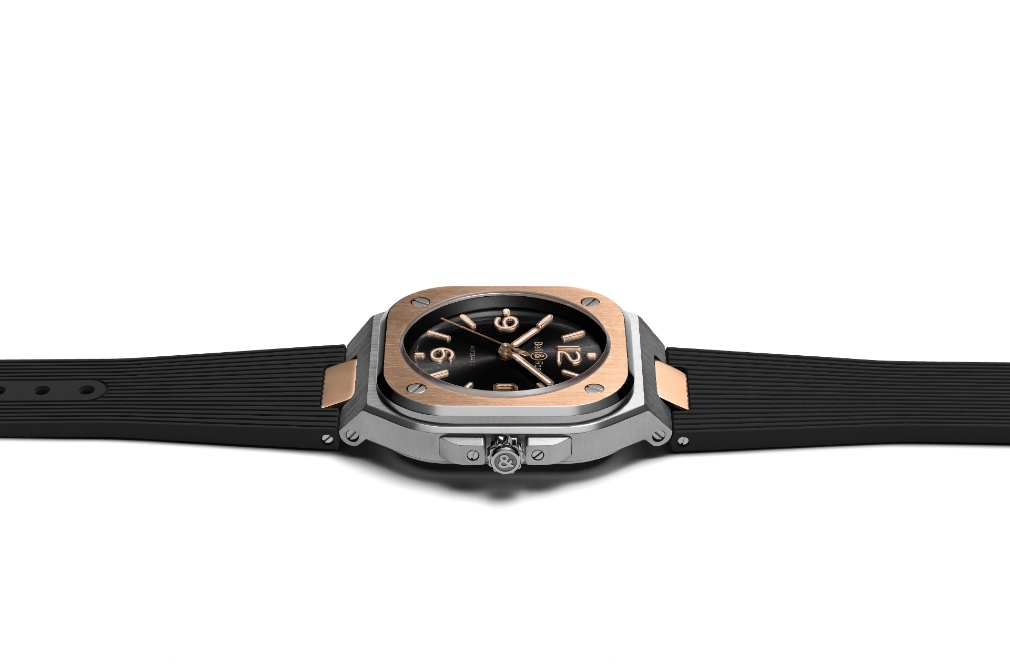 Bell & Ross Black Steel and Gold with rubber strap