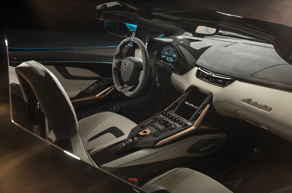 Lamborghini Sián Roadster cockpit
