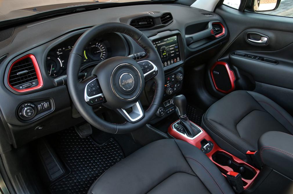 Jeep Renegade 4xe interior.