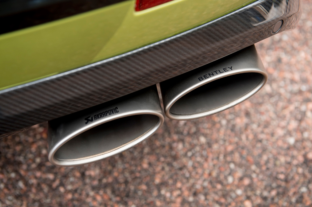 Bentley and Akrapovic logos