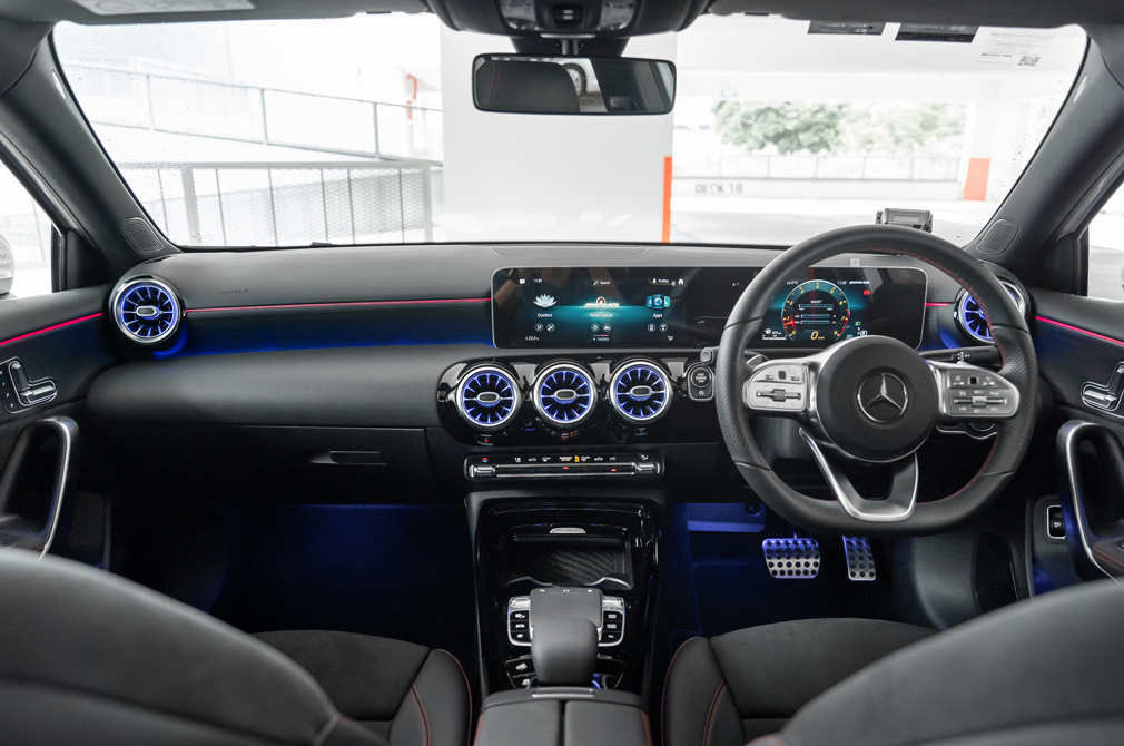 mercedes-amg a35 saloon cockpit