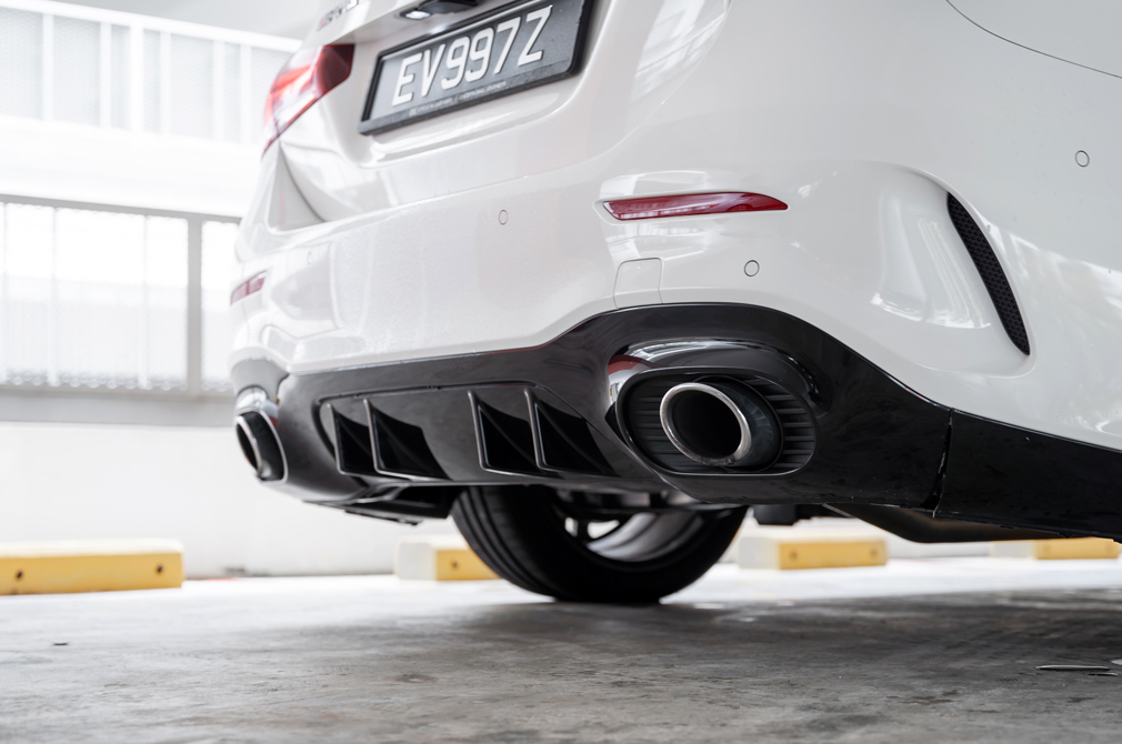 mercedes-amg a35 saloon exhaust tips