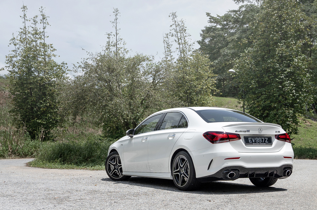 mercedes-amg a35 saloon rear static
