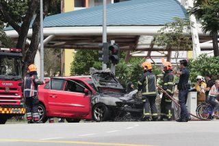 car fires photo from the straits times