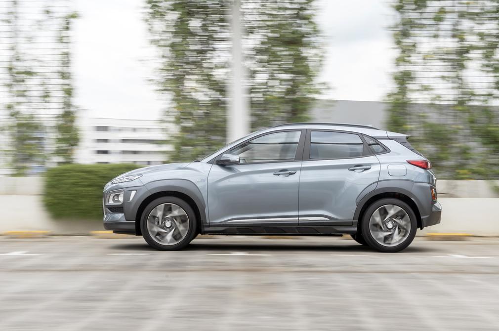 Hyundai Kona Hybrid panning