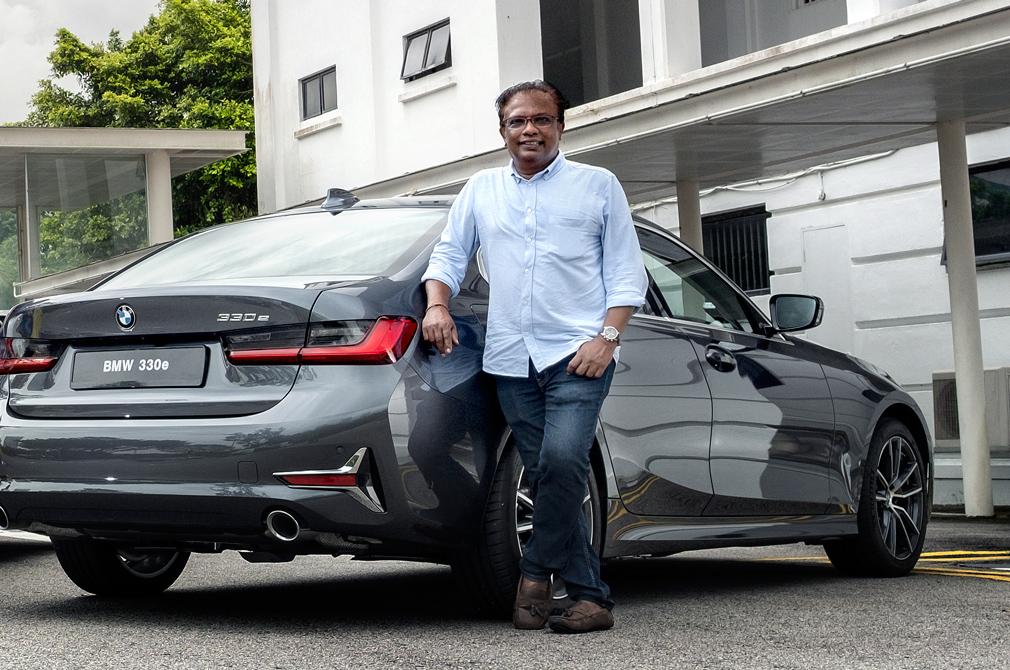 BMW 330e Shreejit Changaroth